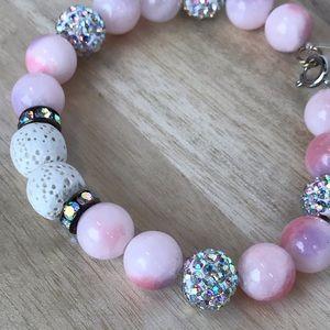 Jewelry - 🆕 Listing - Pink sparkle Beaded bracelet